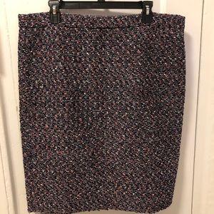 NWT JCrew Multi and Pink Tweed Skirt